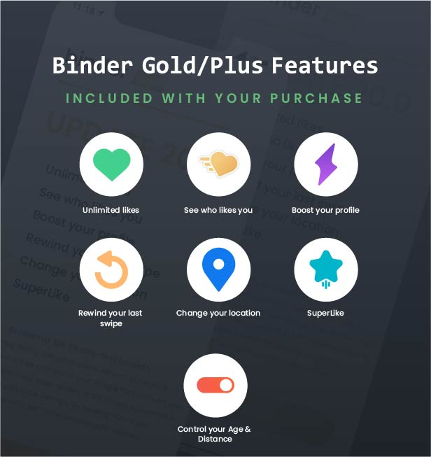 Binder - Dating clone App with admin panel - Android v20.0 - 6