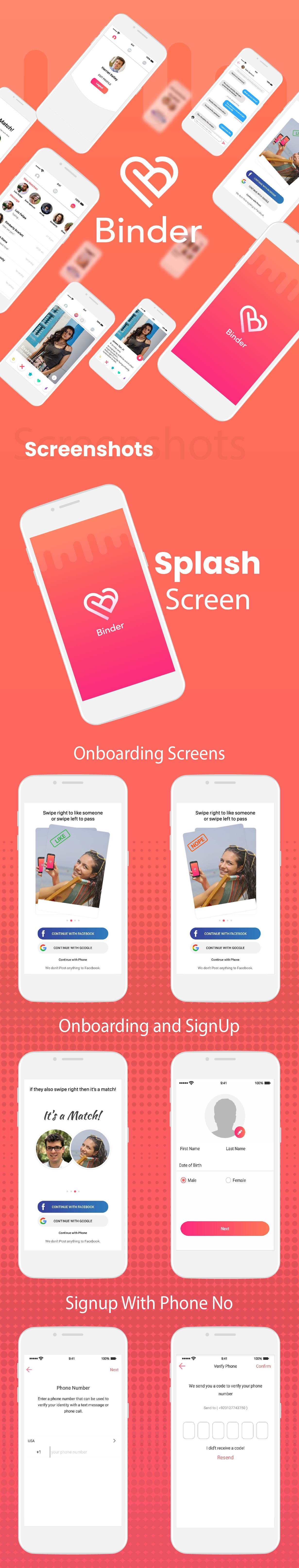 Binder - Dating clone App with admin panel - Android v20.0 - 7