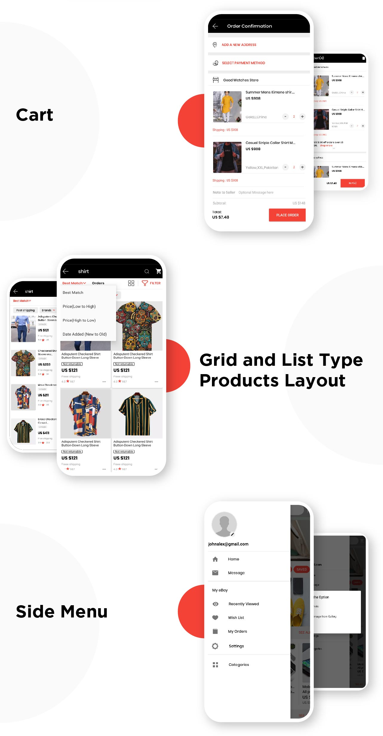 E-Commerce Android Native App UI Kit
