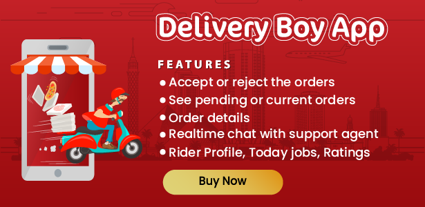 Native Restaurant Food Delivery & Ordering System With Delivery Boy - Android v2.0.4 - 6