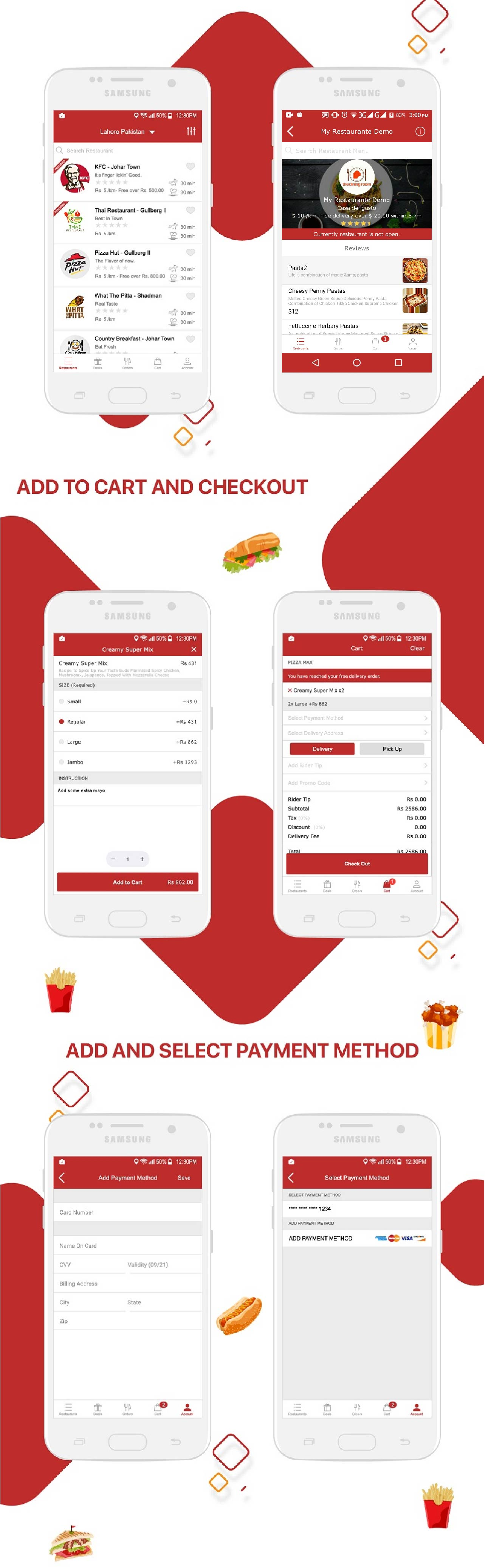 Native Restaurant Food Delivery & Ordering System With Delivery Boy - Android v2.0.6 - 12