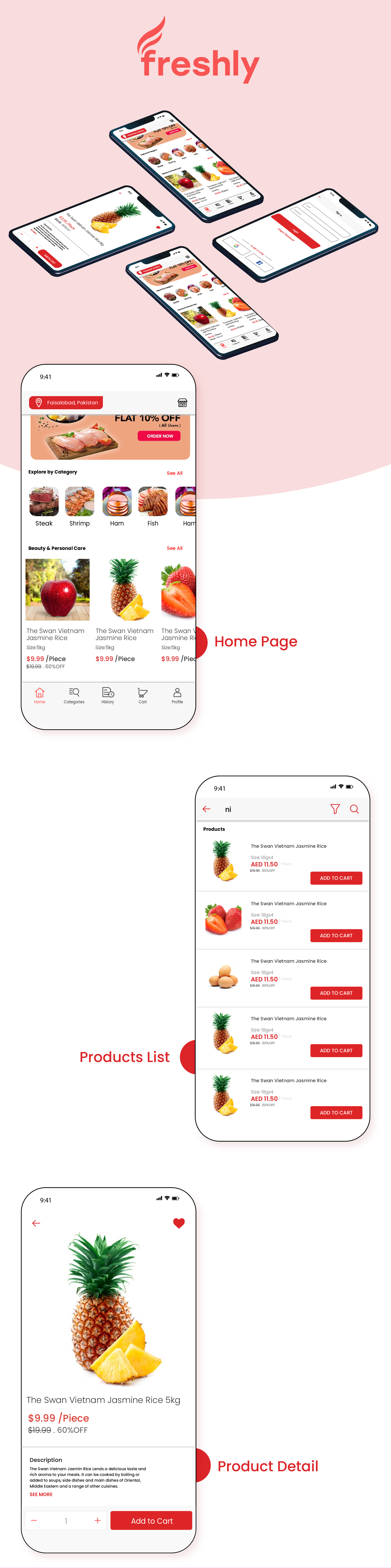 Native Multi Vendor Grocery, Food, Pharmacy, Store Delivery Mobile App with Admin Panel - 2