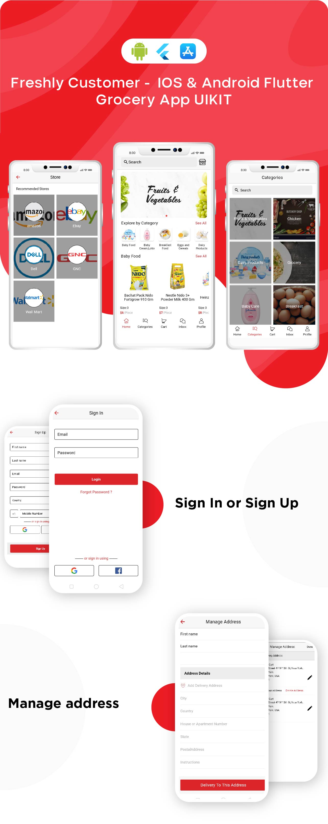 Freshly - Grocery Flutter App UIKIT Customer, Rider And Store All In One - 6