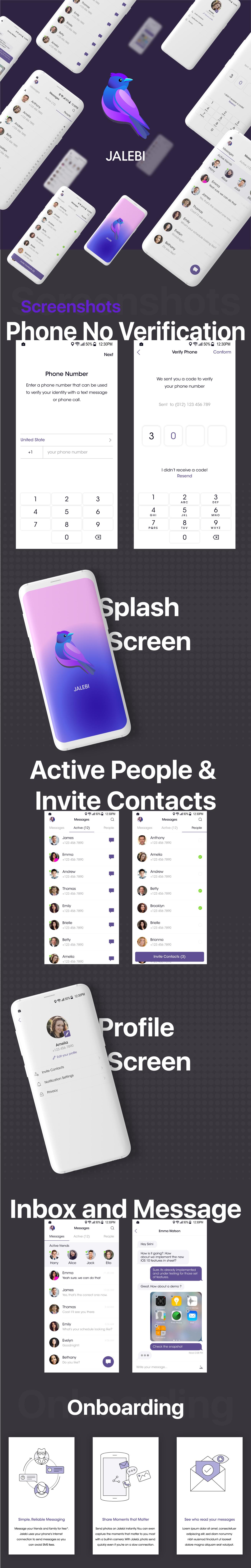 Jalebi - Android Firebase Real-time Chat Messenger - 1