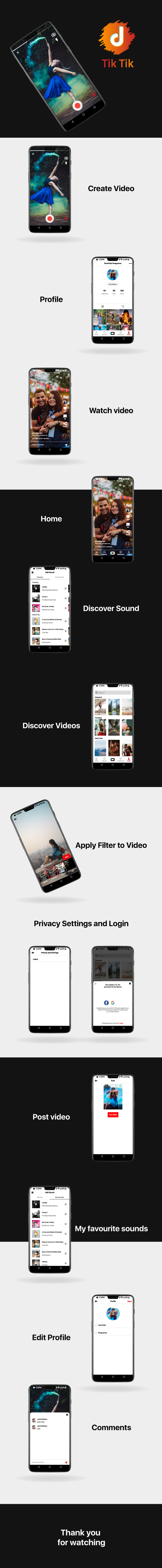 TicTic - Android media app for creating and sharing short videos v2.3 - 4 TicTic - Android media app for creating and sharing short videos v2.4 Nulled Free Download TicTic – Android media app for creating and sharing short videos v2.4 Nulled Free Download cover 4